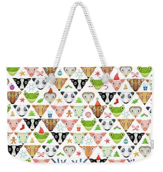Christmas Pattern Weekender Tote Bag