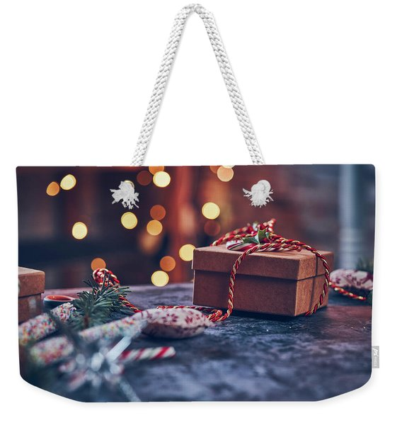 Christmas Pesent Weekender Tote Bag