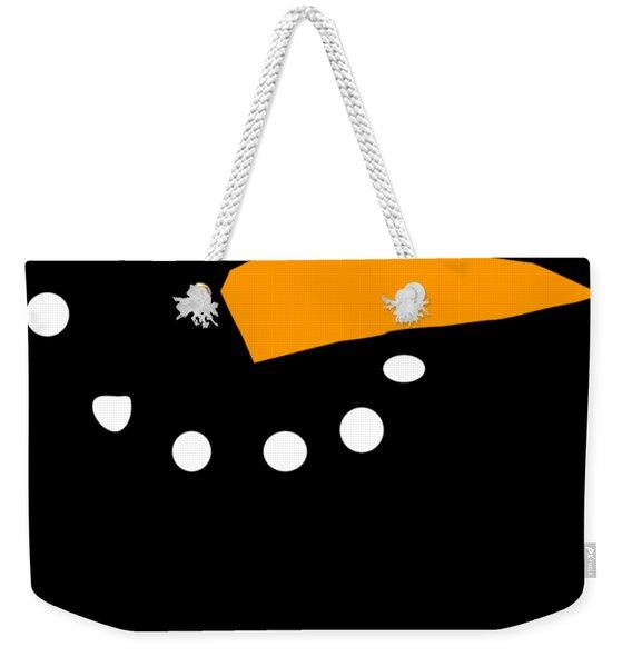 Weekender Tote Bag featuring the digital art Christmas Snowman by Flippin Sweet Gear