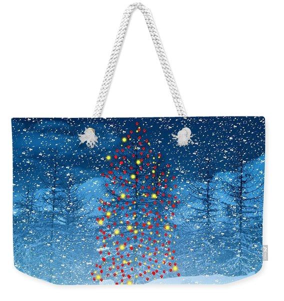 Christmas Tree Balloon Weekender Tote Bag