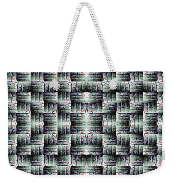 Weekender Tote Bag featuring the mixed media Chuarts Matiah by Clark Ulysse