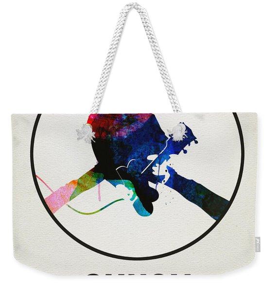 Chuck Berry Watercolor Weekender Tote Bag