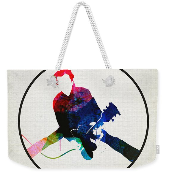 Chuck Berry Watercolor Weekender Tote Bag