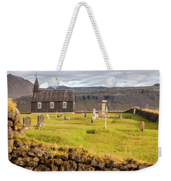 Church Cemetery Of Iceland Weekender Tote Bag