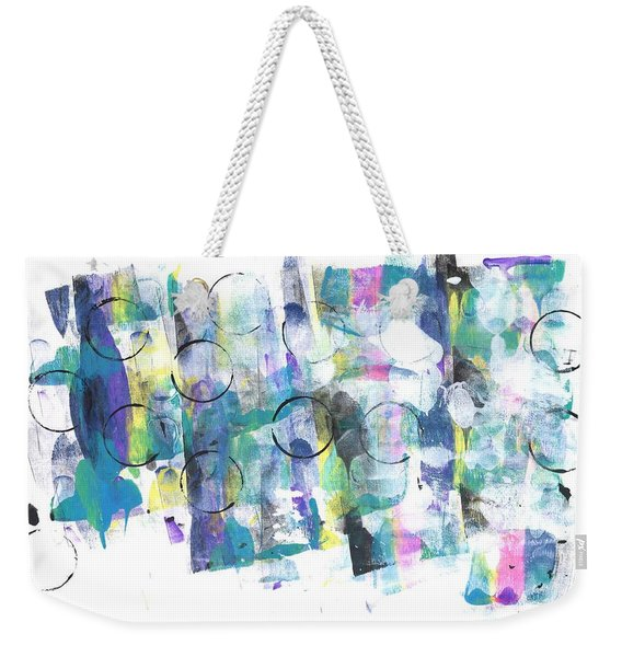 Circle And Rainbow Weekender Tote Bag