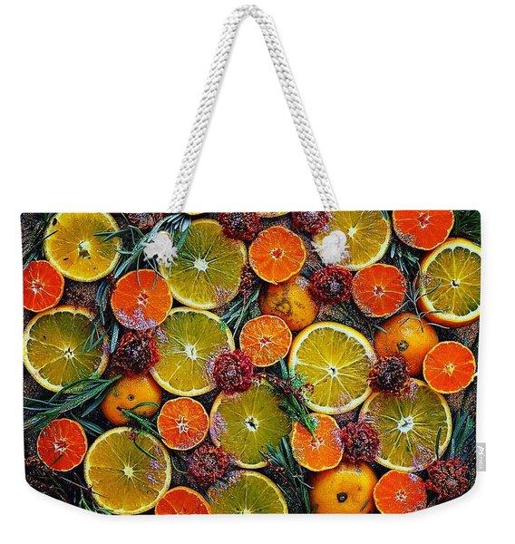 Citrus Time Weekender Tote Bag