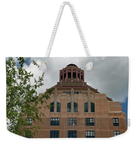 City Hall Of Asheville Weekender Tote Bag