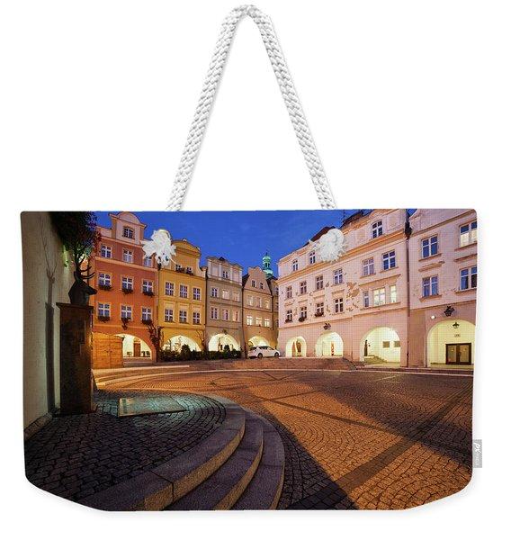 City Of Jelenia Gora In Poland At Night Weekender Tote Bag