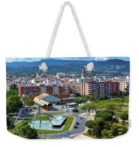 Cityscape In Reus, Spain Weekender Tote Bag