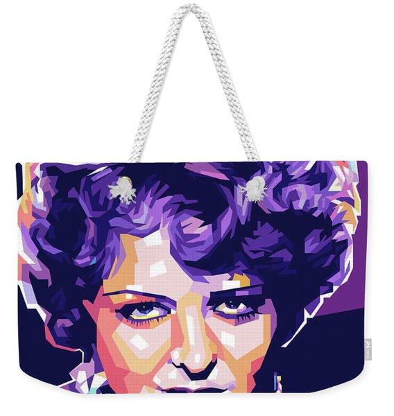 Clara Bow Pop Art Weekender Tote Bag