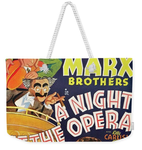Classic Movie Poster - A Night At The Opera Weekender Tote Bag
