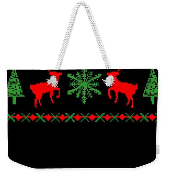 Classic Ugly Christmas Sweater Weekender Tote Bag