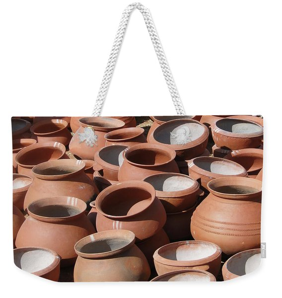 Clay Pots  For Sale In Chatikona  Weekender Tote Bag