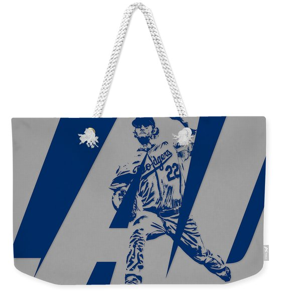 Clayton Kershaw Los Angeles Dodgers City Art 1 Weekender Tote Bag