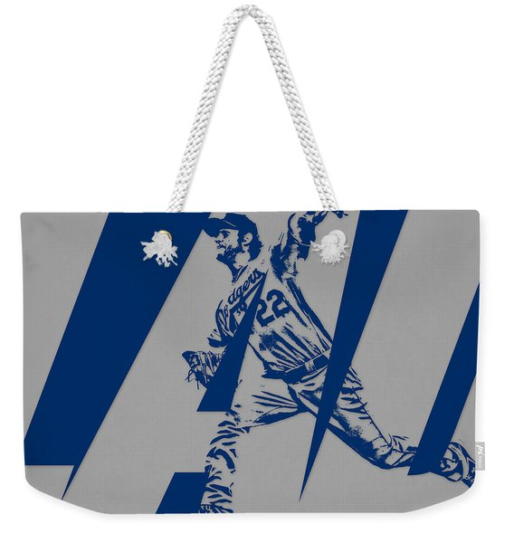 Clayton Kershaw Los Angeles Dodgers City Art 2 Weekender Tote Bag