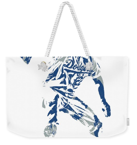 Clayton Kershaw Los Angeles Dodgers Pixel Art  100 Weekender Tote Bag