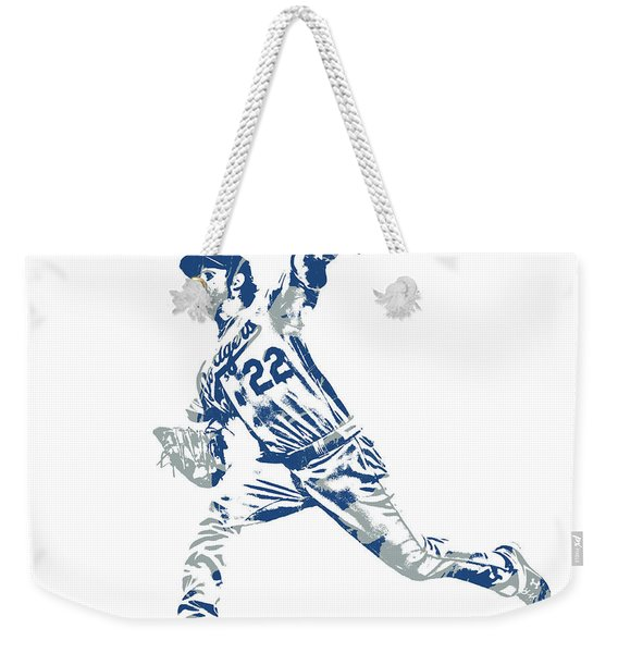 Clayton Kershaw Los Angeles Dodgers Pixel Art 30 Weekender Tote Bag
