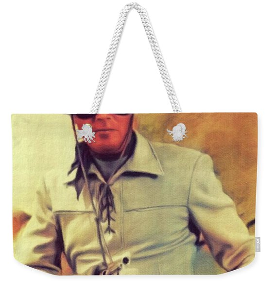 Clayton Moore, Vintage Actor Weekender Tote Bag