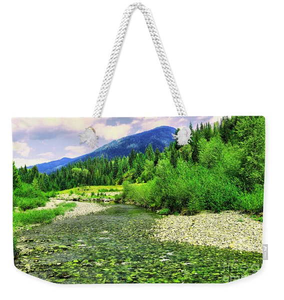 Clear Colorado Water Weekender Tote Bag