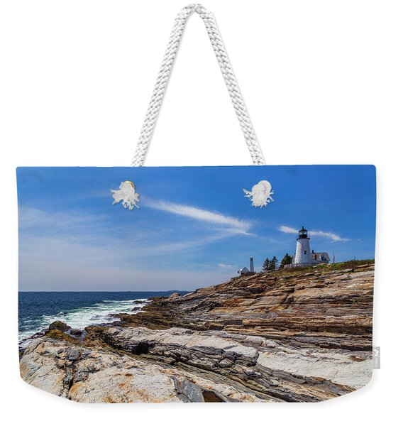 Clear Spring Day On The Coast Weekender Tote Bag