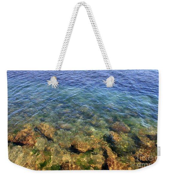 Clear Water At Morro Bay Weekender Tote Bag