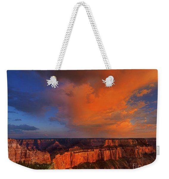 Clearing Storm Cape Royal North Rim Grand Canyon Np Arizona Weekender Tote Bag