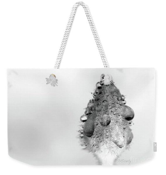 Clematis Bud In Rain Weekender Tote Bag