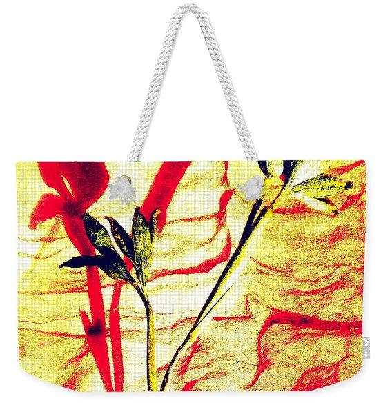 Clementine Sprig Contemporary Weekender Tote Bag