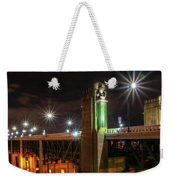 Cleveland Lights  Weekender Tote Bag