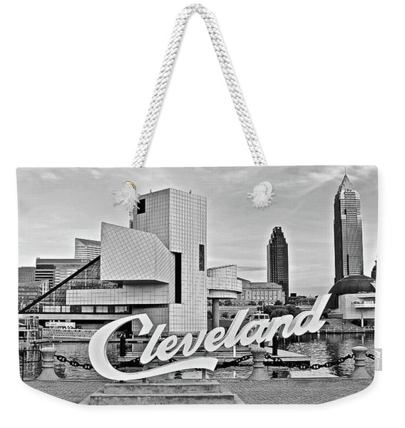 Cleveland Skyline In Panoramic Form Weekender Tote Bag