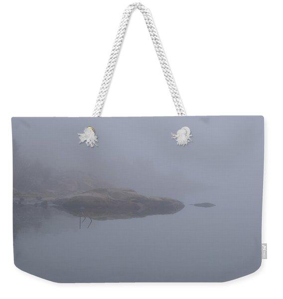 Cliffs In Fog Weekender Tote Bag