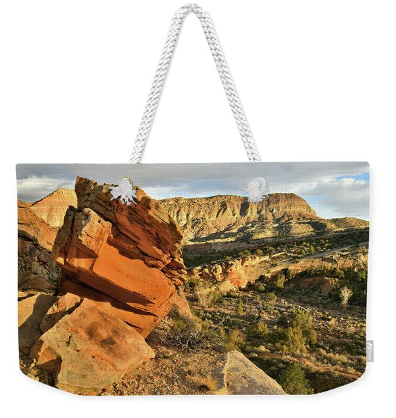 Cliffside Rock Cropping In Colorado National Monument Weekender Tote Bag