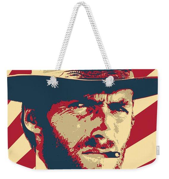 Clint Eastwood Retro Propaganda Weekender Tote Bag