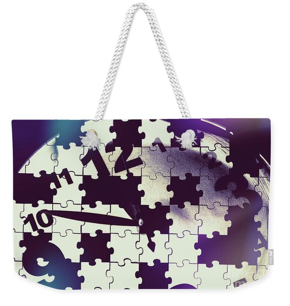 Clock Holes And Puzzle Pieces Weekender Tote Bag