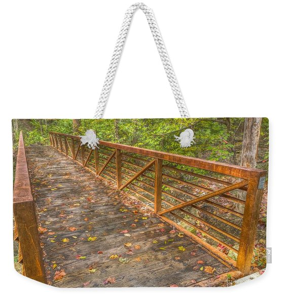 Close Up Of Bridge At Pine Quarry Park Weekender Tote Bag