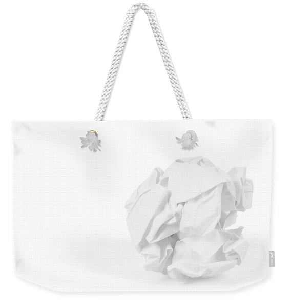 Close-up Of Crumpled Paper Ball Weekender Tote Bag