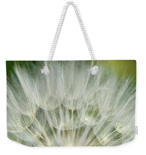 Close-up Of Dandelion Seed, Lockport Weekender Tote Bag