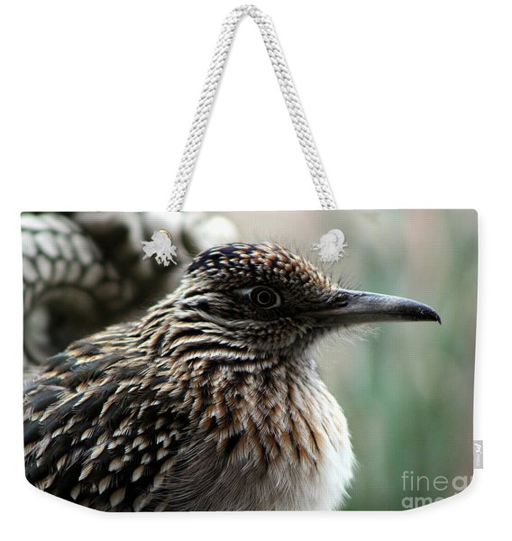 Closeup Of Road Runner By Dragon In Palm Desert Weekender Tote Bag