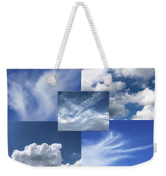 Cloud Collage Two Weekender Tote Bag