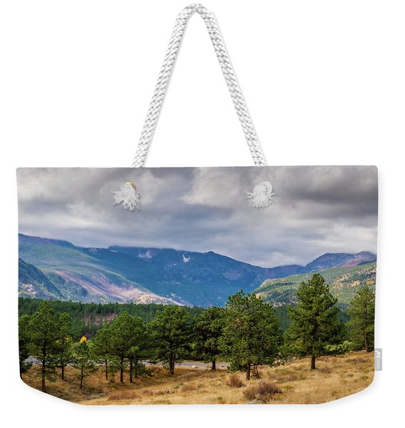 Clouds Over The Rockies Weekender Tote Bag