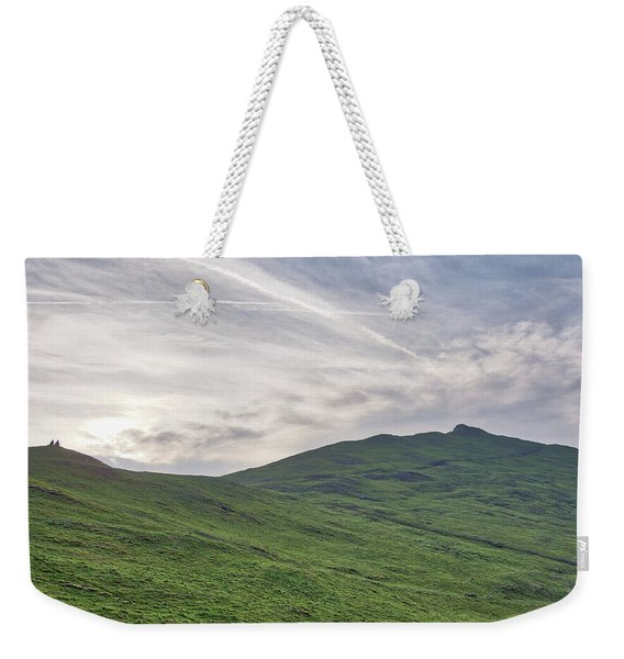 Weekender Tote Bag featuring the photograph Clouds Over Thorpe Cloud by Scott Lyons