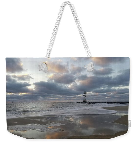 Cloud's Reflections At The Inlet Weekender Tote Bag