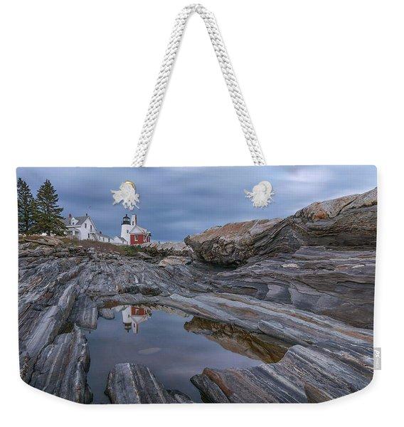 Cloudy Afternoon At Pemaquid Point Weekender Tote Bag