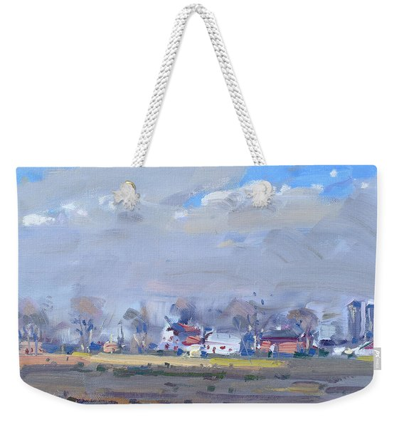 Cloudy Day At The Farm Weekender Tote Bag
