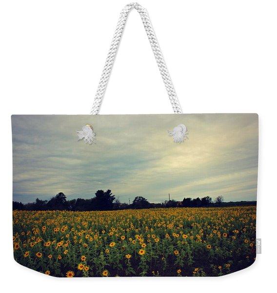 Cloudy Sunflowers Weekender Tote Bag