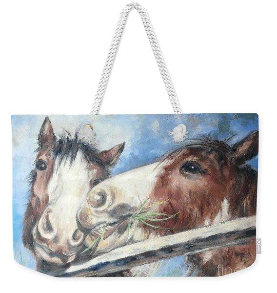 Clydesdale Pair Weekender Tote Bag