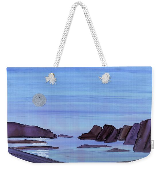Coastal Moon Weekender Tote Bag