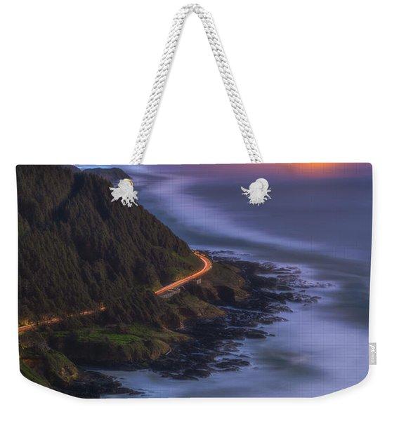 Coastal Nights Crabbing Lights Weekender Tote Bag