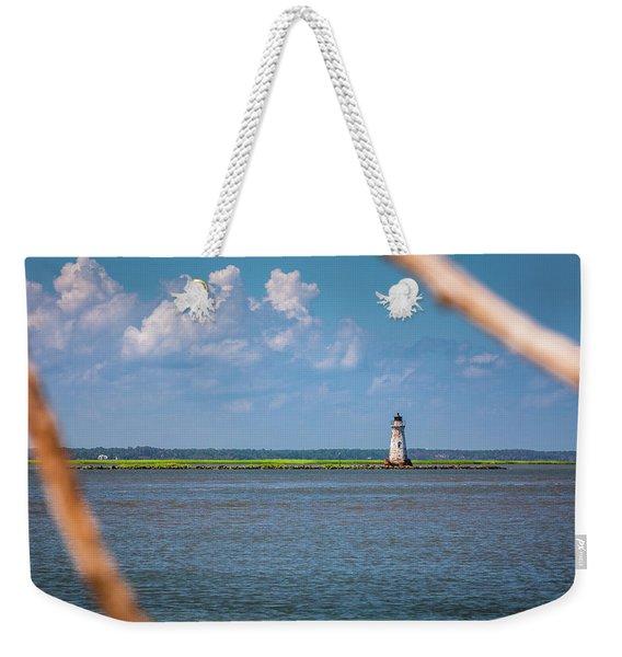 Cockspur Island Light Weekender Tote Bag
