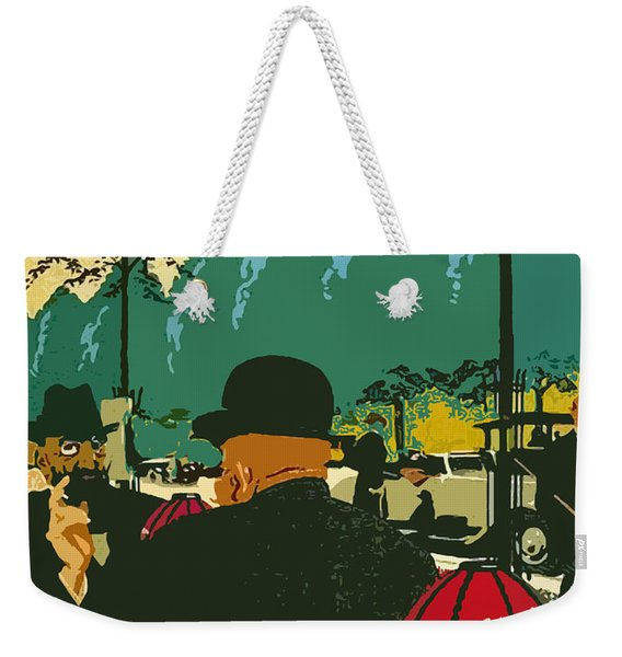 Coffee Shop In Berlin Weekender Tote Bag